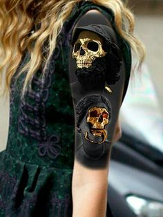 Blackout Skull tattoo