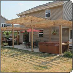 12 Pergola Patio Ideas that are perfect for garden lovers! Garage Pergola, Small Pergola, Pergola Canopy, Backyard Patio Designs, Deck With Pergola, Wooden Pergola, Outdoor Pergola, Backyard Pergola, Pergola Shade
