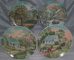 Currier and Ives Four Seasons Collector Plates