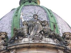 @EuromaidanPress · #DidYouKnow the only sitting statue of Liberty in the world is on the roof of the Lviv Ethnographic museum? #Ukraine
