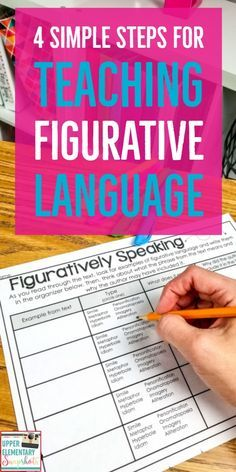 Teaching Figurative Language can be fun and meaningful for your students. Teaching figurative language through poetry can make it even better! Here are my best tips for teaching similes, metaphors, id Middle School Reading, 5th Grade Reading, Reading Lessons, Teaching Reading, Math Lessons, Piano Lessons, Teaching Grammar, Teaching Ideas, Figurative Language Activity