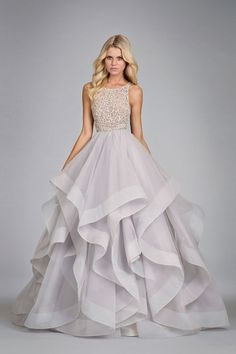 Kleinfeld Bridal | Behind the Seams Blog | Colored Wedding Dresses at Kleinfeld- it's purple at the bottom!