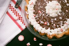 Chocolate Peppermint Cream Pie | Nothing in the House