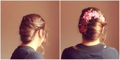 Hairstyle: French Twist - Headband Project. Easy Updo