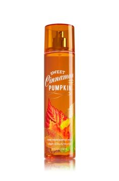 Sweet Cinnamon Pumpkin - Fine Fragrance Mist - Signature Collection - Bath & Body Works - Lavishly splash or lightly spritz your favorite fragrance, either way you'll fall in love at first mist! Our carefully crafted bottle and sophisticated pump delivers great coverage while conditioning aloe mist nourishes skin for the lightest, most refreshing way to fragrance!