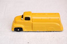 """Vintage TootsieToy 1950's Ford Fuel Tanker Truck, Yellow, 3 1/4"""" Long, made in USA, Diecast Toy Car by RememberWhenToys on Etsy"""