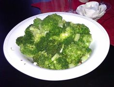 """Dr. Andrew Weil's Broccoli. Photo by mersaydees  I've been fixing broccoli this way ever since I read Dr Weil's book """"8 Weeks To Optimum Health"""" years ago."""