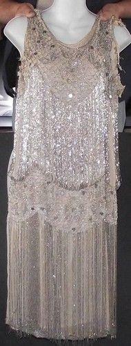 20s Vintage Flapper Dress  - Beaded