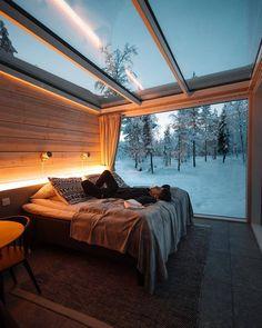 Interior Design Examples, Interior Design Inspiration, Design Ideas, Design Styles, Interior Designing, Decor Styles, Northern Lights Ranch, Glass Cabin, Loft Interior