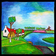 toon tieland Painting Lessons, Bunt, Folk Art, Images, World, Landscapes, Glow, Life, Foods