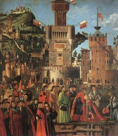 departure of the pilgrim 1495 Carpaccio Vittore