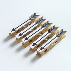 I want to make magnets out of clothespins and draw arrows on them