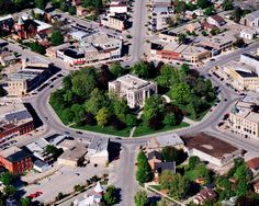 Goderich, Ontario. Courthouse in the centre of downtown, 'The Square' - Canada.