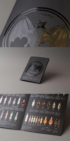 Barcardi - folder med spottlakk og matt PP-folie. Graphic Design, Inspiration, Biblical Inspiration, Visual Communication, Inspirational, Inhalation