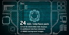 Premade HD versions. http://videohive.net/item/24-hitech-hud-interface-pack/2836699