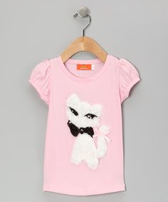 Take a look at this Pink Ruffle Cat Tee - Infant, Toddler & Girls by Dolce Liya on #zulily today!