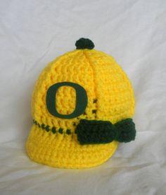 Girl's University of Oregon Ducks Inspired Crochet by CDBSTUDIO, $29.99