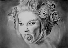 Art Michele not good hair!  Art Michele  technique:   Fabriano paper size 33x24   pencils faber castell 9h-10b   about hours running 16