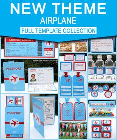Instantly download and personalize your Airplane birthday party with my Printable Boarding Pass Invitation & Party Collection!. Type your own text into these templates at home using Adobe Reader!