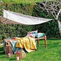 Build your own pergola. Step-by-step instructions to help you create a pergola to house the outdoor living area of your dreams. Backyard Shade, Outdoor Shade, Patio Shade, Pergola Shade, Garden Shade, Backyard Patio, Pergola Swing, Outdoor Pergola, Outdoor Decor