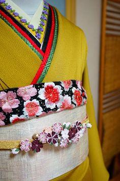 つまみ細工のガーランド 桜