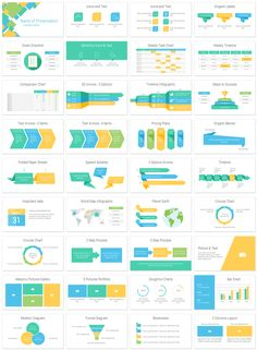 Abstract squares PowerPoint template in flat design style with 36 beautifully designed slides. Brand Presentation, Corporate Presentation, Presentation Layout, Powerpoint Slide Designs, Powerpoint Design Templates, Marketing Strategy Template, Text Icons, Timeline Infographic, Dashboard Design