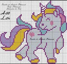 Unicorn Cross Stitch Pattern, Cross Stitch Baby, Modern Cross Stitch, Cross Stitch Patterns, Plastic Canvas Christmas, Plastic Canvas Crafts, Plastic Canvas Patterns, Graph Paper Art, Wall Hanging Crafts