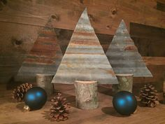 SALE Corrugated Metal Christmas Tree Rusted by TheRustedWoodShop