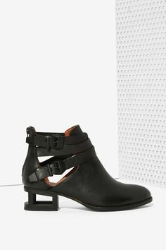 Jeffrey Campbell Everly Cutout Boot - Matte Black - Flats | Ankle | Jeffrey Campbell