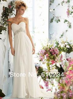 Cheap wedding dress for beach, Buy Quality chiffon wedding dress directly from China stock wedding dresses Suppliers: Cheap Chiffon Wedding Dresses for Beach Sweetheart Vestidos De Noiva Beading Sashes Bridal Gowns In Stock Ball Dresses, Bridal Dresses, Ball Gowns, Evening Dresses, Bridesmaid Dresses, Dresses 2014, Dress Prom, Prom Dresses, Dinner Dresses