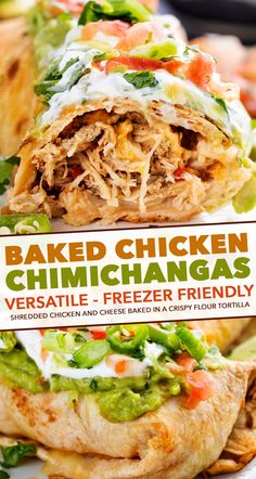 Crispy baked chimichangas stuffed with juicy Mexican spiced chicken and plenty of gooey cheese Perfect easy family dinner that everyone will love chimichangas chicken mexican stuffed cheese burrito baked crispy easyrecipe # Mexican Dinner Recipes, Dinner Recipes Easy Quick, Quick Easy Meals, Healthy Chicken Mexican Recipes, Easy Family Recipes, Mexican Dinners, Shredded Chicken Recipes, Mexican Chicken, Grilled Chicken Recipes