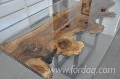 Briccola wood & resin table More
