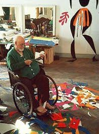 Matisse 'painting' with scissors