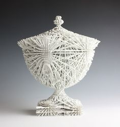 The Wedgwoodn't Tureen, Rapid Manufactured with non-fired ceramic coating. Private Collection. A limited number of unique pieces are available through Adrian Sassoon.  By Michael Eden http://www.edenceramics.co.uk/product2.html