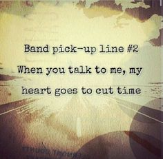 Band pick up line