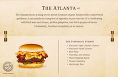 31. The Atlanta Cheeseburger Recipe | 40 Mouth-Watering American Hamburger Recipes Everyone Loves