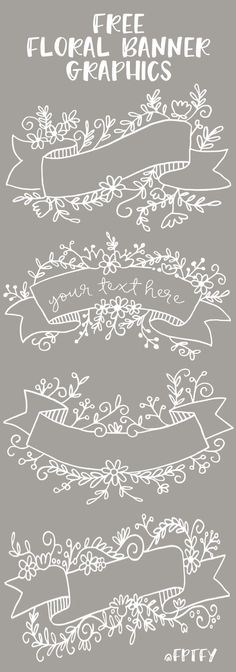 (9) Free Floral Banner Graphics- Set of 4-CU ok! - Free Pretty Things For You | Искусство | Pinterest