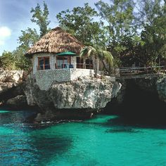 Dive coral reefs right outside your front door at the cliffside Rockhouse Hotel. Negril, Jamaica.  Next vacation spot