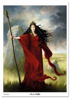 """MORGANE is an oil painting that I made for """"Les Dames de Brocéliande"""" (the Ladies of Brocéliande), a book that I wrote and produced for Au Bord des Continents ... FR : MORGANE est une peinture à l'huile que j'ai réalisé pour """"Les Dames de Brocéliande"""", livre que j'ai écrit et réalisé aux éditions Au Bord des Continents... Celtic Goddess, Kali Goddess, Celtic Mythology, Mother Goddess, Goddess Art, Celtic Warriors, Legends And Myths, Celtic Culture, Triple Goddess"""