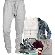 """I'm chilled down"" by tonibalogni on Polyvore Cheap Jordan Retro 4  Grade School only $61.2, save up to 59% off for all #Nikes #Shoes"