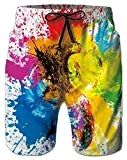 Belovecol Colorful Splash Surf Board Shorts for Men Summer Cool Colorful Pattern Bathing Suits S Surf Board Shorts, Surf Accessories, Paddle Boarding, Swim Shorts, Color Patterns, Bathing Suits, Surfing, Water Bottle, Boards