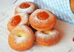 Bögrés Berliner-fánk (dagasztás nélkül) Cookie Cups, Sweet Life, Cake Cookies, Doughnut, Recipies, Muffin, Cupcake, Food And Drink, Sweets