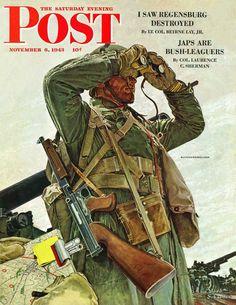 Tank Patrol. Saturday Evening Post, November 6, 1943 (Mead Schaeffer)