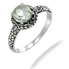 Amazon.com: 7MM Green Amethyst Ring In Sterling Silver 1.30CT In Size 5 (Available In Sizes 5-9): FineDiamonds9: Jewelry