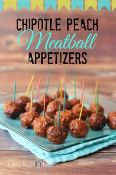 chipotle peach meatballs appetizers