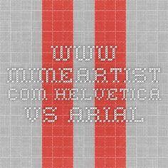 www.mimeartist.com Helvetica vs. Arial