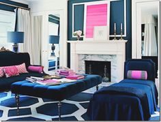 navy and pink *office inspiration*