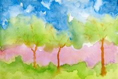 Tree Instant Download wall art pack / Scan of by PaintingsbySimon