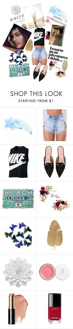 """Pretty luxury💎"" by kiwita ❤ liked on Polyvore featuring WithChic, NIKE, Alberta Ferretti, Madara, Bobbi Brown Cosmetics and Chanel"