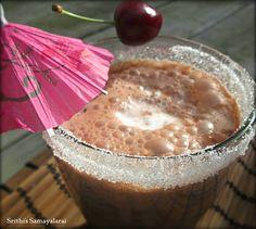 CHOCO CHERRY MILKSHAKE / HOW TO MAKE NUTELLA CHERRY MILKSHAKE  Srithi's Samayalarai